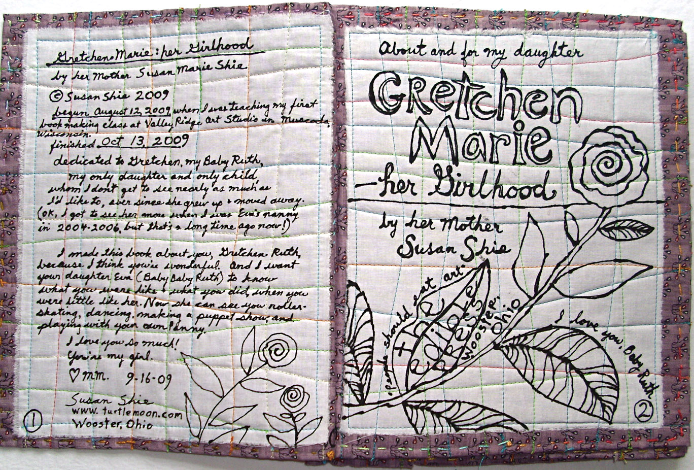 gallery gretchen marie all views outsider art quilts gretchen marie book title page copysusan shie 2009